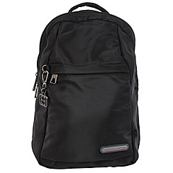 Enrico Benetti - Black smooth nylon fashion backpack