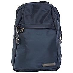 Enrico Benetti - Navy smooth nylon fashion backpack