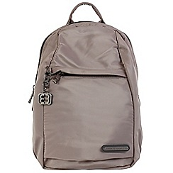 Enrico Benetti - Taupe smooth nylon fashion backpack