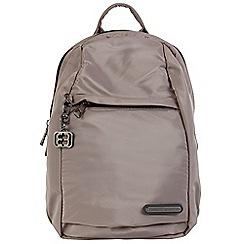 Enrico Benetti - Taupe smooth nylon fashion backpack