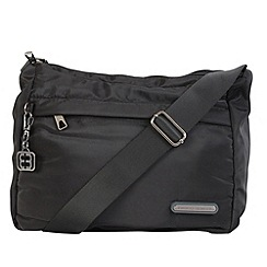 Enrico Benetti - Black smooth nylon shoulder bag