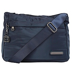 Enrico Benetti - Navy smooth nylon shoulder bag