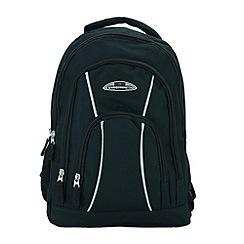 Enrico Benetti - Black polyester sport backpack