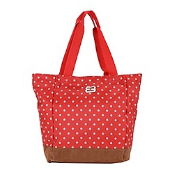 Enrico Benetti - Red spotted nylon shopper tote