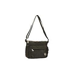 Enrico Benetti - Black crinkle nylon shoulder bag