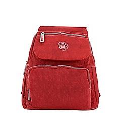 Enrico Benetti - Red crinkle nylon fashion backpack