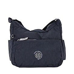 Enrico Benetti - Navy crinkle nylon scoop shoulder bag