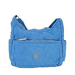 Enrico Benetti - Jeans blue crinkle nylon scoop shoulder bag