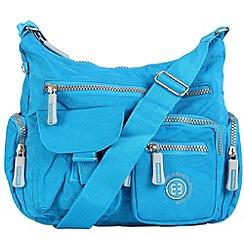 Enrico Benetti - Jeans blue crinkle nylon multi pocket shoulder bag