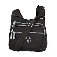 Enrico Benetti - Black crinkle nylon cross body bag