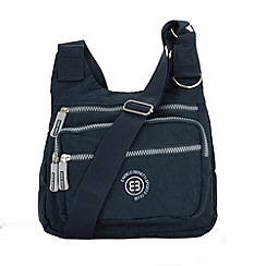 Enrico Benetti - Navy crinkle nylon cross body bag