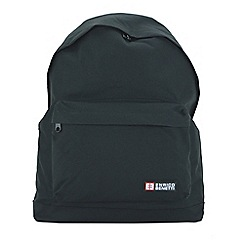 Enrico Benetti - Black polyester sport backpack