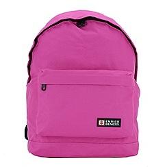Enrico Benetti - Fuchsia polyester sport backpack