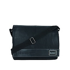 Enrico Benetti - Black faux leather messenger bag