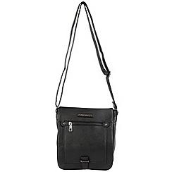 Enrico Benetti - Black faux leather fullflap crossbody bag