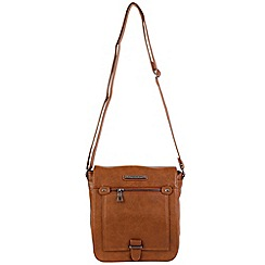 Enrico Benetti - Cognac faux leather fullflap crossbody bag