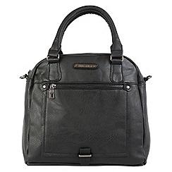 Enrico Benetti - Black faux leather two handle grab handbag