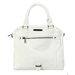Enrico Benetti - White faux leather two handle grab handbag