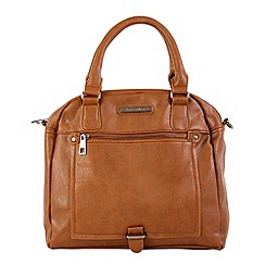 Enrico Benetti - Cognac faux leather two handle grab handbag