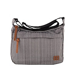 Enrico Benetti - Grey scoop polyester shoulder bag