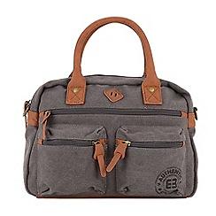 Enrico Benetti - Grey canvas two handle handbag