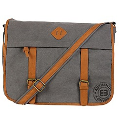 Enrico Benetti - Grey canvas courier bag