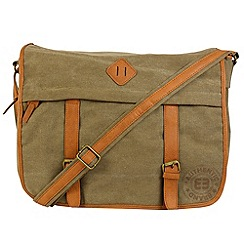 Enrico Benetti - Olive canvas courier bag