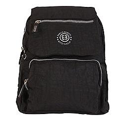 Enrico Benetti - Black crinkle nylon fashion backpack