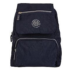 Enrico Benetti - Navy crinkle nylon fashion backpack
