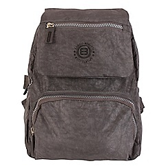 Enrico Benetti - Grey crinkle nylon fashion backpack