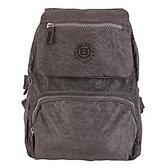 Enrico Benetti - Grey crinkle nylon fashion backpack