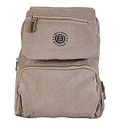 Enrico Benetti - Taupe crinkle nylon fashion backpack