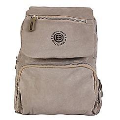 Enrico Benetti - Taupe crinkle nylon fashion backpack