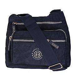 Enrico Benetti - Navy crinkle nylon cross body bag