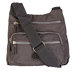 Enrico Benetti - Grey crinkle nylon cross body bag