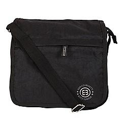 Enrico Benetti - Black crinkle nylon full flap crossbody