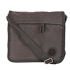 Enrico Benetti - Grey crinkle nylon full flap crossbody