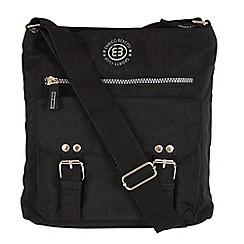 Enrico Benetti - Black crinkle nylon zip top crossbody