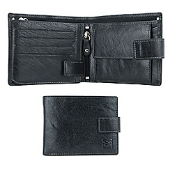 Enrico Benetti - Black genuine leather boxed wallet