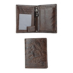 Enrico Benetti - Brown genuine leather boxed wallet