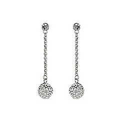 Mikey London - White crystal long drop earring