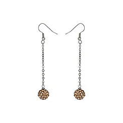 Mikey London - Champagne 10mm crystal drop earring
