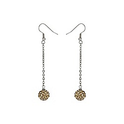 Mikey London - Gold 10mm crystal drop earring