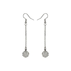 Mikey London - White 10mm crystal drop earrings