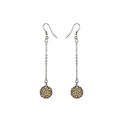 Mikey London - Champagne 12mm crystal drop earring