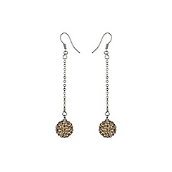 Mikey London - Gold 12mm crystal drop earring