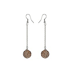 Mikey London - Champagne 14mm crystal drop earring