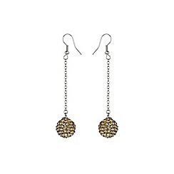 Mikey London - Gold 14mm crystal drop earring