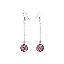 Mikey London - Pink 14mm crystal drop earring