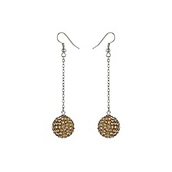 Mikey London - Champagne 16mm crystal drop earring
